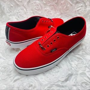 New Vans Authentic Otw Webbing Red
